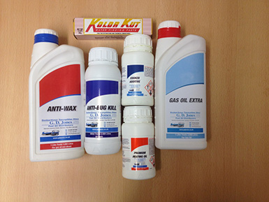 Fuel additives available from G. D. Jones and Son